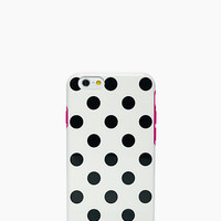 Kate Spade Le Pavillion Resin Iphone 6 Case White/Black/Pink ONE