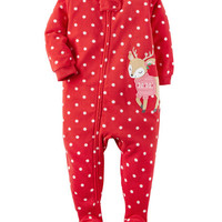 1-Piece Fleece Christmas PJs
