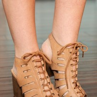 On The Same Cage Heels-Camel