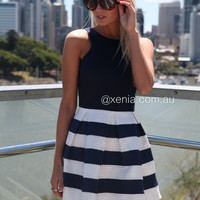 Stripe Skirt Dress