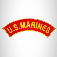 U.S MARINES CORPS PATCH ROCKER MARINE PATCHES FOR VEST JACKET NEW