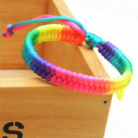 Braided Multicolored Handmade Rope String Bracelet