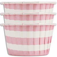 Pink Ring Stripe Nut Cups