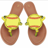 Preorder-Womens Softball Sandal