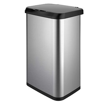 GLAD Extra Capacity Stainless Steel Sensor Trash Can with Clorox Odor Protection of The Lid | Fits All 20 Gallon Waste Bags Sensor Can