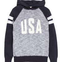 Fine-knit Hooded Sweater - from H&M