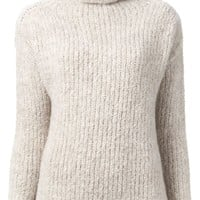 Forte Forte rolled neck ribbed sweater
