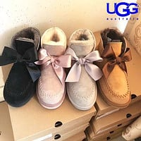 UGG Fashionable Bow-tied Velvet Uggs Are Hot Sellers Of Casual Ladies' Wool Boots