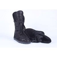 """UGG"" Women Fashion Wool Snow bandage Boots Calfskin Shoes"