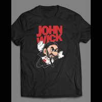 JOHN W MOVIE SUPER MARIO OLDSKOOL PARODY T-SHIRT