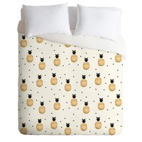 Elisabeth Fredriksson Golden Pineapples Duvet Cover