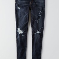 AEO Women's Denim X Hi-rise Jegging (Night Fall Tear)