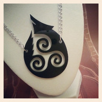 Teen Wolf Hale Triskelion Necklace by UnicornEmpirePrints on Etsy