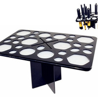 BS-MALL Air Dry Organizing Cosmetic Makeup Brush Tower Tree Holder
