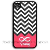 chevron iphone 4 case, infinity iphone 4 case, Forever young iphone 4 case, black iphone 4s case