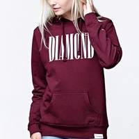 Diamond Supply Co Burgundy Pullover Hoodie - Womens Hoodie - Red