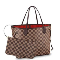 Lv Brown Damier Neverfull Mm