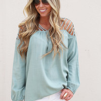 The Best Of Me Top {Sage}