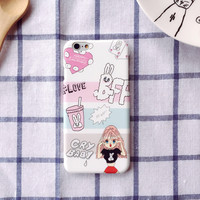 Cute Stylish Hot Deal On Sale Iphone 6/6s Iphone Korean Strong Character Innovative Cartoons Lovely Girl Apple Phone Case [8153018887]
