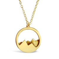 Mountain Range Necklace for Outdoor Lovers
