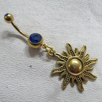 Sun Belly Button Jewelry Belly Ring Belly Button Jewelry, Belly Ring,belly button jewelry, bellybutton ring, Body jewelry.