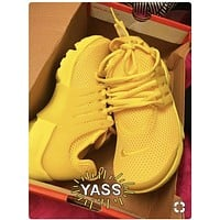 """NIKE""Yellow Air Presto Women Men Fashion Running Sport Casual Shoes Sneakers"