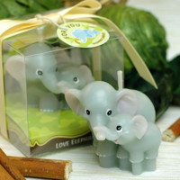 Cute Handmade Elephant Mom & Kid Candle