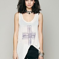 Free People We The Free Waterfall Graphic Tank