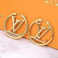 LV Louis Vuitton Popular Women Personality Pendant Earrings Jewelry Accessories