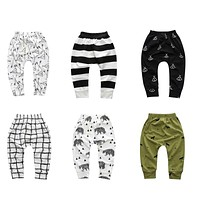 Boy girl cartoon cotton trousers boy autumn tribe wolf children pants children clothing