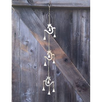 Brass Triple Om Bell Chime