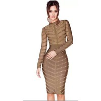Coco Bandage Long Sleeve Mini Dress H912