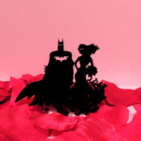 Traditional Batman and Poison Ivy Cake Topper