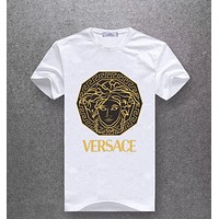 Versace Women or Men Fashion Casual Pattern Print Shirt Top Tee