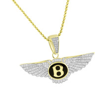 Luxury  Car Logo Pendant Chain Gold Over 925 Silver