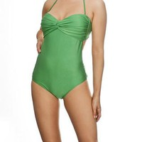 Knotty One Piece Swimsuit in Emerald  by Nicolita