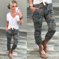 Camo Cropped Joggers