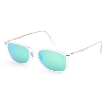 Ray-Ban New Wayfarer Light Ray Sunglasses Silver One Size For Men 26416014001