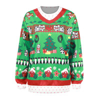 Christmas Pattern Print Ugly Christmas Sweater Pullover Long Sleeve Hoodies [9440720772]