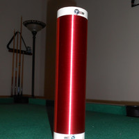 """Tesla Coil Secondary 30awg 8.5"""" wound on 2.4"""" PVC pipe"""