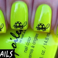 Cute Turtle Side Nail Decals by YRNails
