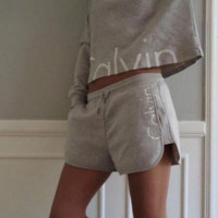 Calvin Klein sweatshirt shorts with two sports suits
