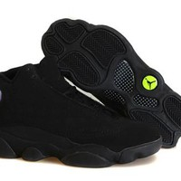 Cheap Air Jordans 13 Retro Men Shoes All Black