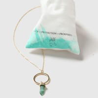 Jade Stone Ring Necklace - Jewelry - Bags & Accessories