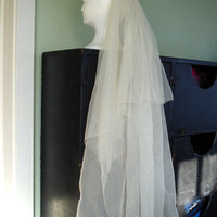 Vintage 1920s Wedding Veil Netted Lace Lily of the Valley 201430