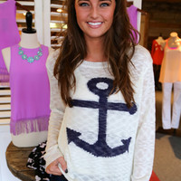 Sea Side Anchor Knit