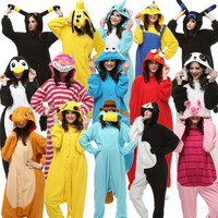 Adults Kigurumi Halloween Carnival Costumes Onesuit Kigu Pokemon Charmander Umbreon Cheshire Cookie Monster Elmo Monokuma Minion