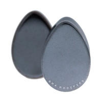 Hematite Teardrop Stone Plugs (8mm-22mm)
