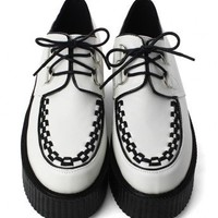 Creeper Platforms Shoes in White