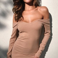 Winter Women's Fashion Wrap Long Sleeve Slim One Piece Dress [39012171791]